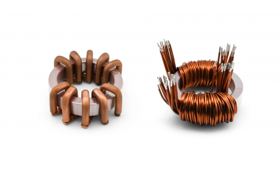 Comparison of a VACOCOIL with a choke with conventional heavy wire winding